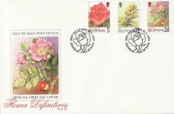 1999-04-26 IOM Flower Definitive Stamps FDC (83986)
