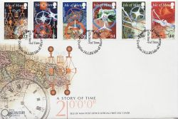 2000-01-24 IOM A Story of Time Stamps FDC (83991)