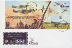 2000-05-22 IOM Battle of Britain Stamps M/S FDC (83992)
