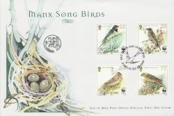 2000-05-05 IOM Manx Song Birds Stamps FDC (83993)