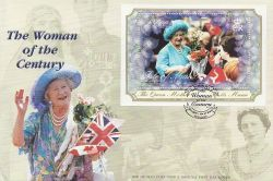 2000-02-29 IOM Queen Mother Stamp M/S FDC (83994)