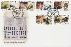 2000-07-16 IOM Aspects of Theatre Stamps FDC (83997)