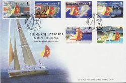 2000-09-10 IOM Yacht Global Challenge Stamps FDC (83998)