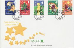 2000-11-07 IOM Christmas Stamps FDC (84002)