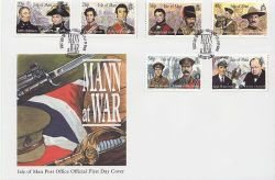 2001-05-22 IOM Mann at War Stamps FDC (84007)