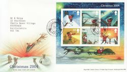 2004-11-02 Christmas Stamps M/S Bethlehem FDC (84216)