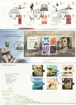2009 Bulk Buy x 17 First Day Covers T/House Pmks (84240)