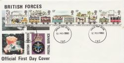 1980-03-12 Railways Stamps FPO 197 cds FDC (84272)