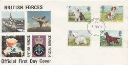 1979-02-07 Dogs Stamps FPO 43 cds FDC (84277)