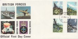 1979-03-21 British Flowers Stamps FPO 43 cds FDC (84278)