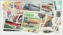 Worldwide x50 Train Stamps in packet (J19)
