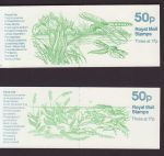 1986 FB32 FB33 Pond Life Booklet Stamps (66249)