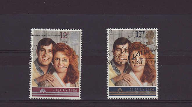 Royal Wedding Stamps 1986