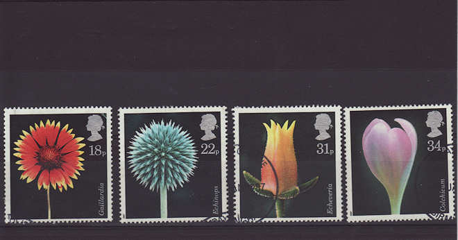 Flowers Stamps 1987
