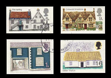 British Rural Architecture Stamps
