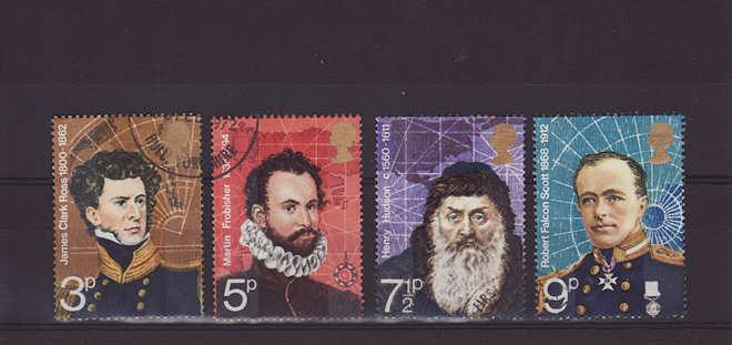 British Polar Explorers Stamps 1972