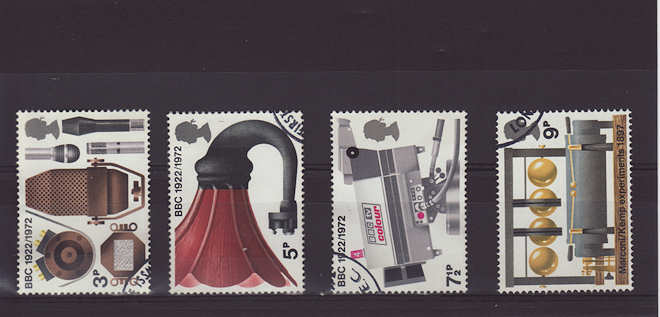 BBC Broadcasting History Stamps 1972