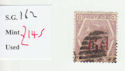 1880-83 QV SG162 6d on 6d lilac plate 18 Used Stamp (qvb16)