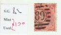 1862-64 QV SG82 4d used stamp (qvb40)