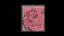 1902-13 KEVII SG219 1d Red used (S2566)