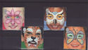 2001-01-16 SG2178/81 Face Paintings Used Set (S2862)