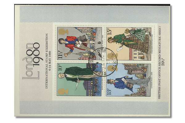 Sir Rowland Hill Miniature Sheet Stamps 1979