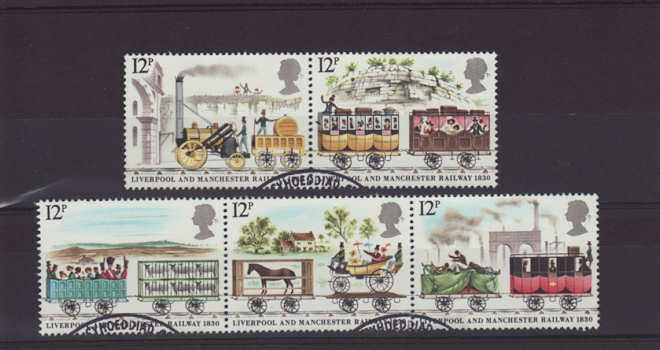 Liverpool and Manchester Railway Stamps 1980