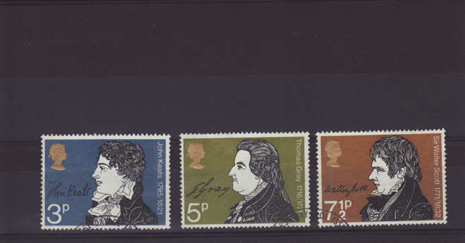 Literary Anniversaries Stamps 1971