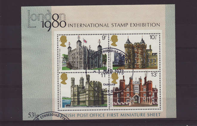British architecture historic buildings miniature sheet Stamps 1978