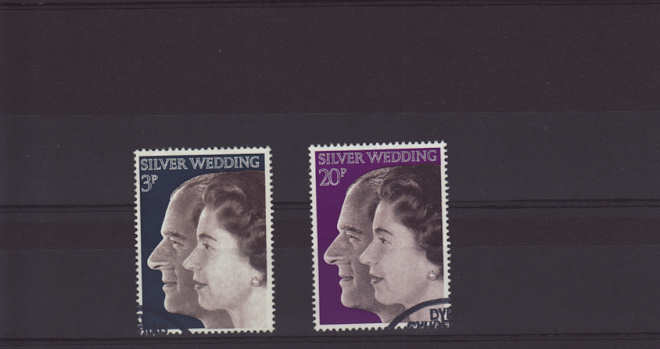 Royal Silver Wedding Stamps 1972