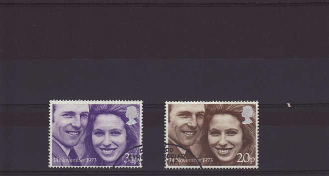 Royal Wedding Stamps 1973