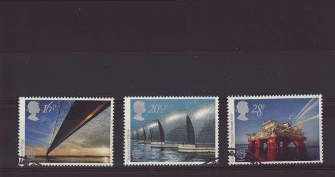 Europa Engineering Achivements Stamps 1983