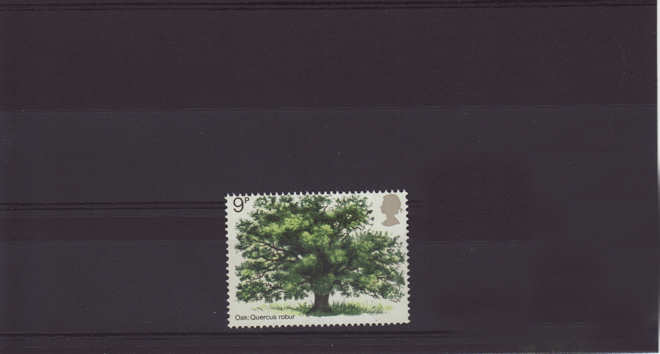 British Trees The Oak Stamp 1973