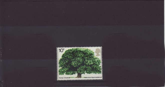 British Trees Horse Chestnut Stamp 1974