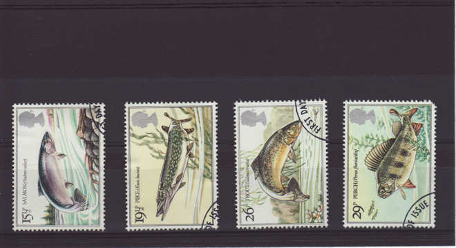 British River Fish Stamps 1983