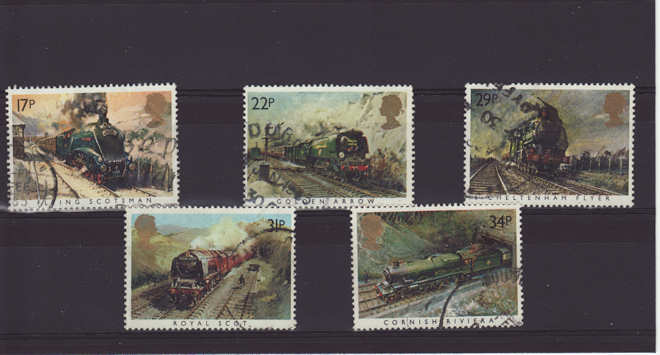 Famous Trains Stamps 1985