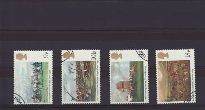 Horseracing Paintings Stamps 1979