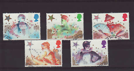 Christmas Pantomime Characters Stamps 1985