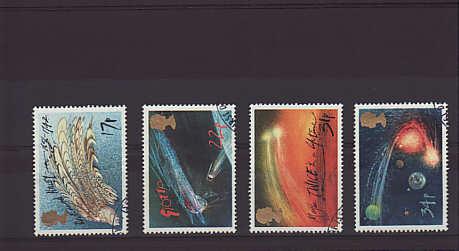 Halley's Comet Stamps 1986
