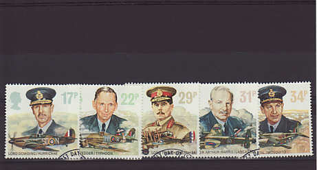 Royal Air Force Stamps 1986